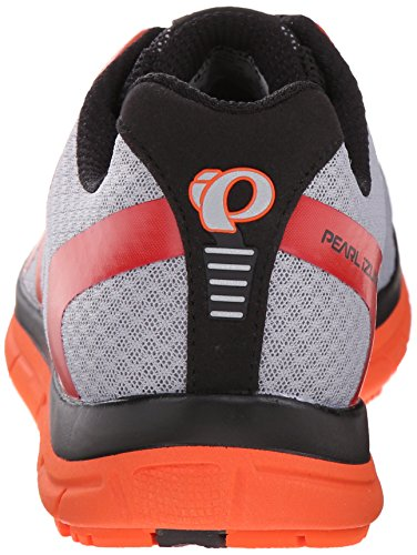 Pearl Izumi Mens Em Road N 2 V3 Scarpa Da Corsa Argento / Rosso Arancio