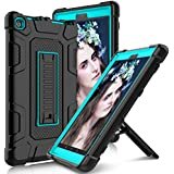 All-New Amazon Fire HD 8 2017 Case with Stand, Elegant Choise Heavy Duty [Shockproof] Full Body Armor Defender Rugged Protective Cover Case for Amazon Kindle Fire 8 2017 Release(Black/Blue)