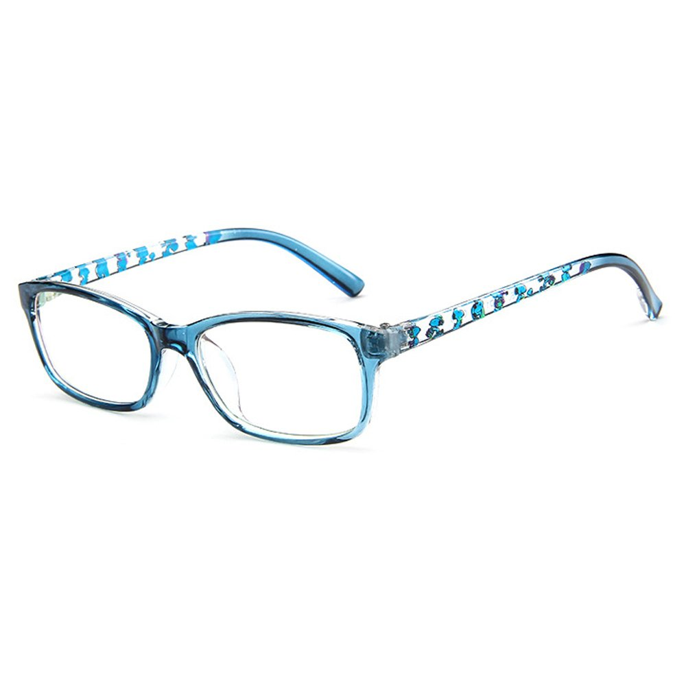 Fantia Unisex Child Non-Prescription Glasses Frame Clear Lens Kids Eyeglasses (3#-Blue)