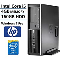HP Elite 8100 SFF Business Desktop Computer (Intel Dual Core i5-650 3.2GHz Processor), 4GB DDR3 RAM, 160GB HDD, DVD, RJ45, VGA, Display Port, Windows 7 Professional (Certified Refurbished)