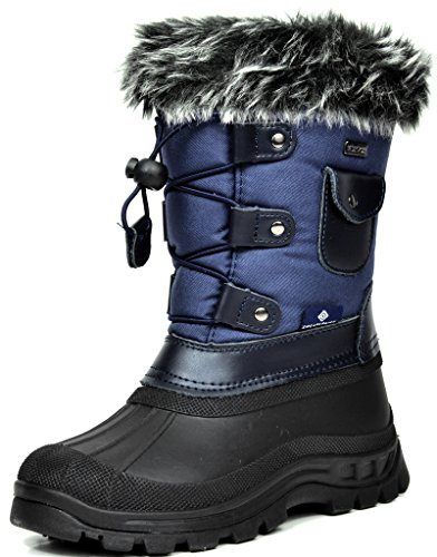 Dream Pairs Big Kid Ksnow Navy Isulated Waterproof Snow Boots   5 M Us Big Kid