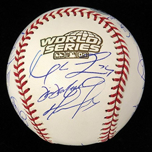 2004 Boston Red Sox WS Champs Team Signed World Series Baseball Ortiz COA - JSA Certified - Autographed Baseballs (Series World Baseball Signed 2004)