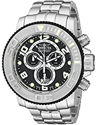 Invicta Mens Sea Hunter Swiss Made Chronograph Black Carbon Fiber Stainless Steel Watch 10762