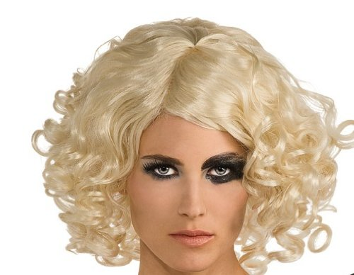 Amazoncom Lady Gaga Curly Hair Wigblondeone Size Clothing