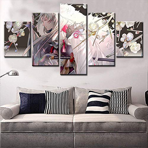 NATVVA Home Decor Anime Painting Wall Scroll Hot Inuyasha Sesshomaru Cosplay -