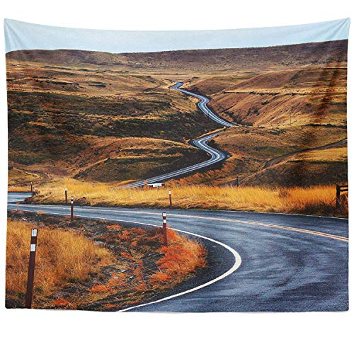 Berrykey Wall Hanging Tapestry - Path Garden - Photography Home Decor Living Room - 51x60 - Garden Tapestry Path