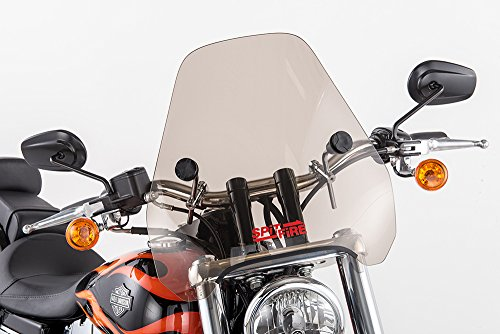 Slipstreamer S-06-CHR-T Motorcycle Windshield, Smoke