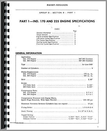 (Massey Ferguson Massey Harris Eng Specs & Tech Data Continental E-242 Service Manual)