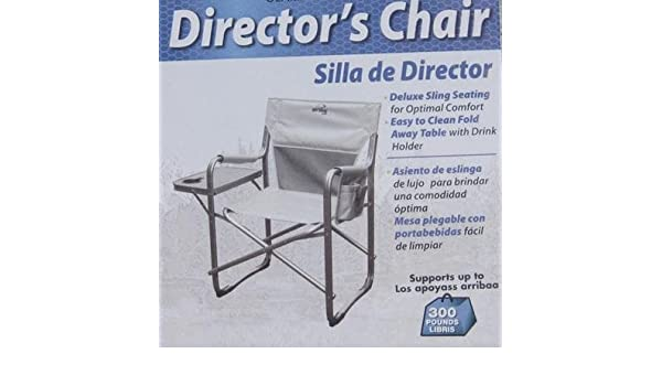 Amazon.com: Natural Gear Directors Folding Chair with Side ...