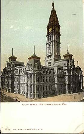 city hall philadelphia pennsylvania original vintage postcard entertainment. Black Bedroom Furniture Sets. Home Design Ideas