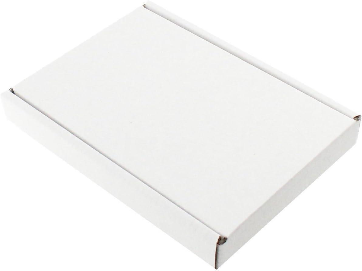 400 St /& Envoi De Marchandises 230x160x20 mm DIN a5 blanc boîte// format grande lettre carton