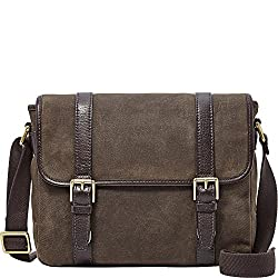 Fossil Estate Ew City Bag - Dark Brown