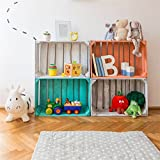 OFILA Baby Room Backdrop 5x5ft Kids Toys Car Cartoon Books Photo Frame Newborn Theme Baby Shower Decoration Children Birthday Party Wallpaper Wood Floordrop Toddlers Shoots Digital Video Studio Props