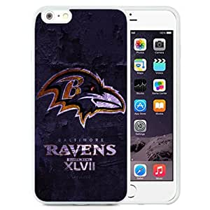 DIY TPU Phone Case Super Bowl 2013 Baltimore Ravens iPhone 6 Plus 5.5 inch Wallpaper in White