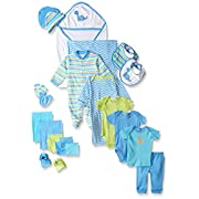 Luvable Friends Baby 24 Piece Gift Cube Set, Blue Dinosaurs, 0-6 Months
