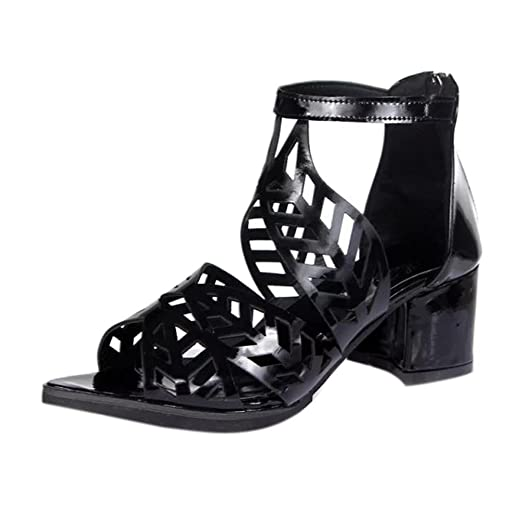 3a62c1e41236 YANG-YI Clearance Vintage Women Sandals Platform Wedge High Heels Boho Shoes  (Black-