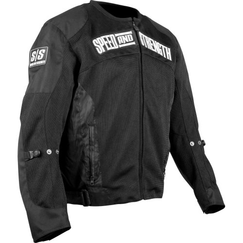 Speed and Strength Trial By Fire Men's Mesh Street Motorcycle Jacket - Black / Small