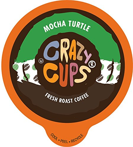 Crazy Cups Flavored Coffee, for the Keurig K Cups 2.0 Brewer, Mocha Turtle, 22 Count - Turtle Cup