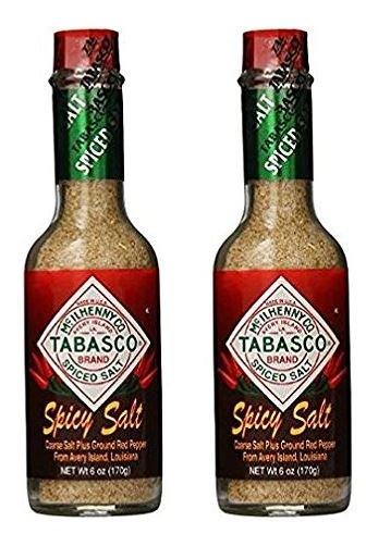 Tabasco Spicy Salt, 6 Ounce (2 Pack) (Steak And Shake Chili 3 Way Recipe)