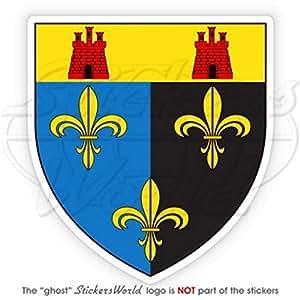 Monmouthshire Lesser Escudo Insignia Escudo de Gales UK Monmouth 87mm (3.4) vinilo Bumper, adhesivo