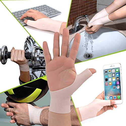 Phileex Carpal Tunnel Wrist Brace - Thumb Brace Right Hand (1pair) New Material Thumb Splint, Great for Tenosynovitis Gel Wrist Brace Carpal Tunnel, Typing, Wrist & Thumb Pain, Rheumatism,Arthritis by Phileex (Image #3)