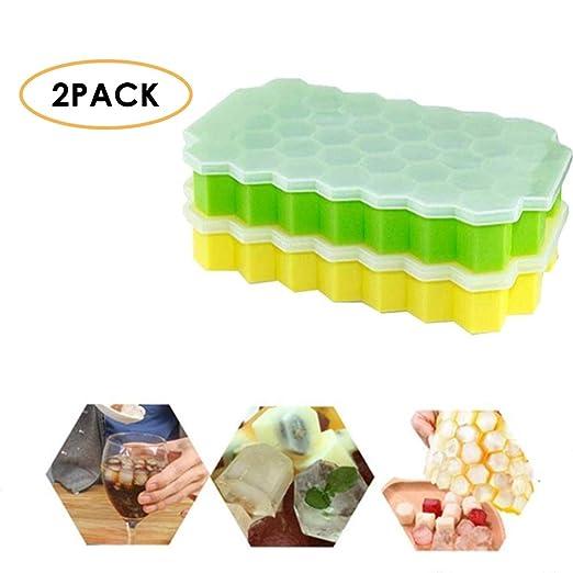 Bandejas para cubitos de hielo, 2 unidades de módulos de silicona ...
