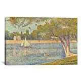 Museum quality Banks of Seine (Seine at Grande Jatte) (Die Seine an der Grand Jatte, Fruhling) By Georges Seurat Canvas Print. The art piece comes gallery wrapped, ready for wall hanging with no additional framing required. This print is also availab...