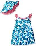Gerber Little Girls Toddler Two-Piece Sundress and Hat Set, Daisy, 3T