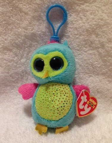 aa8c3ff6292 Amazon.com  Ty Beanie Boos Opal - Owl Clip (Justice Exclusive) by Ty Beanie  Boos  Toys   Games