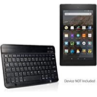 Amazon Fire HD 8 (2017) Keyboard, BoxWave [SlimKeys Bluetooth Keyboard] Portable Keyboard with Integrated Commands for Amazon Fire HD 8 (2017) - Jet Black
