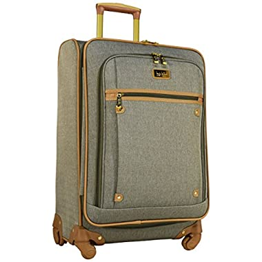 Nicole Miller Taylor 24  Expandable Spinner Suitcase (Green)