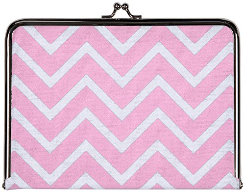 (C.R. Gibson 100% Cotton Canvas Photo Clutch, Metal Frame & Clasp, Acid-Free, Photo Safe, Holds 20 Pictures, Fits 4