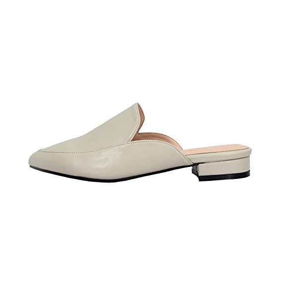 03905a06fcc28 Amazon.com | Peerage Maggie Women Wide Width Fashion Slip On Low Heel  Pointed Toe Dress Mule | Shoes