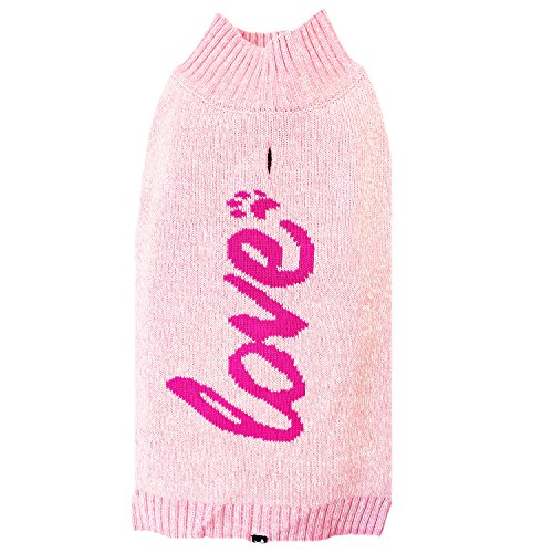 Hotel Doggy Candy Pink Love Intarsia Sweater