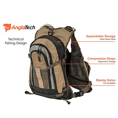 Anglatech fly fishing backpack vest combo chest pack for for Women s fly fishing gear