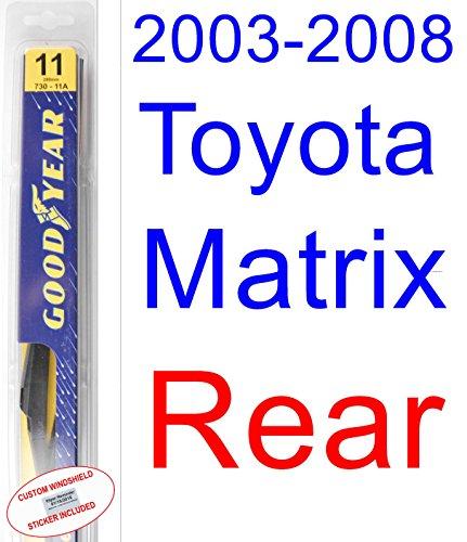 2003-2008 Toyota Matrix Wiper Blade (Rear) (Goodyear Wiper Blades-Premium) (2004,2005,2006,2007)
