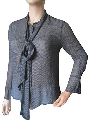 Denim & Supply Ralph Lauren Diamond-Print Necktie Blouse XL