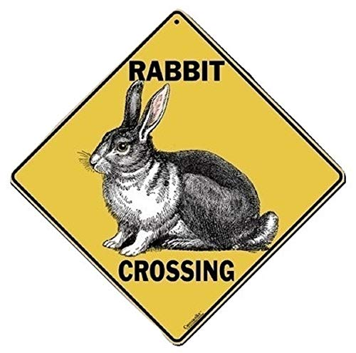 - Atlas Screen Printing Rabbit Crossing Aluminum Sign