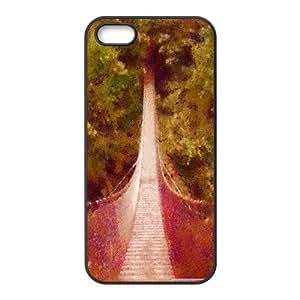 Bridge Dap Pastels IPhone 5,5S Case, Girl Design Case Phone Case for Iphone 5s Evekiss {Black}