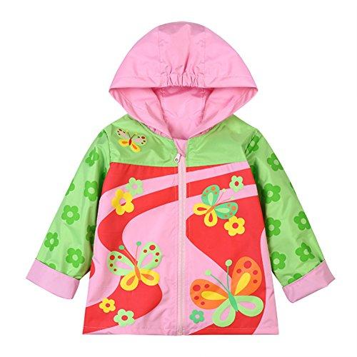 86f5949d2097 Galleon - LZH Toddler Rain Jacket Girls Boys Raincoat Waterproof ...