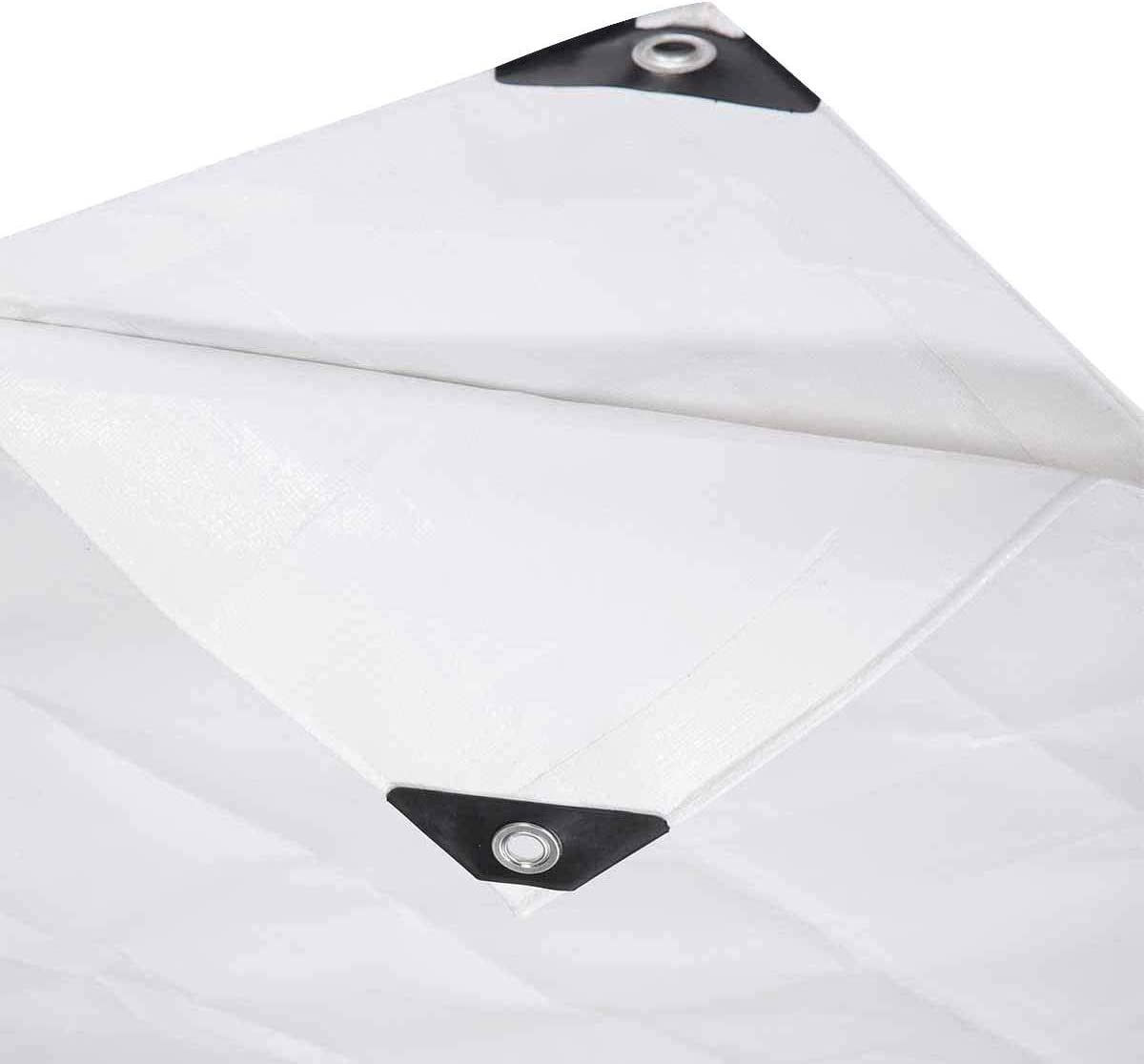 Lestarain Lona Impermeable Universal y Duradera de Lona con Ojales para Muebles, jard/ín ,Coche ect 280g//m2 Blanco 1.5X10M