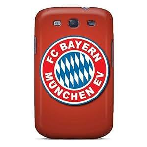 Scratch Resistant Cell-phone Hard Covers For Samsung Galaxy S3 (MRj10678Zsdd) Provide Private Custom Stylish Fc Bayern Munich Series hjbrhga1544