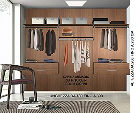 Alucabina Cabina armadio su misura completa di tutti accessori ...