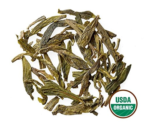 Dragon Well Tea - Organic - Loose Leaf - Bulk - Non GMO - 91 Servings - Organic Dragon Well