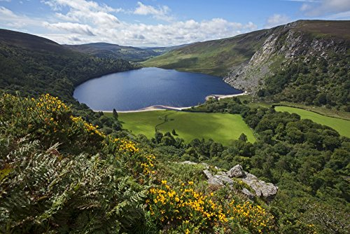Lough Tay and Wicklow Mountains County Wicklow Ireland Poster Print (38 x 24)