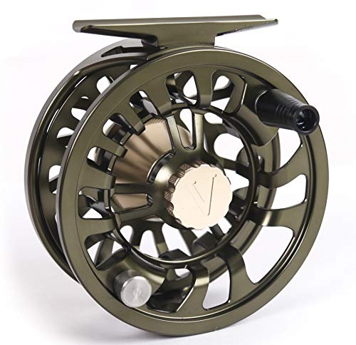 - New 2019 Colorado Fly Fishing Reel 5 6 7 Weight Trout Bass Fishing Super Large Arbor, Multi-disc Drag Wheel Ergonomic Handle Left/Right Handed, Sealed for Fresh or Salt Water (Olive Green, 5 6 7)