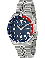 Seiko Mens SKX009K2 Divers Analog Automatic Stainless Steel Watch
