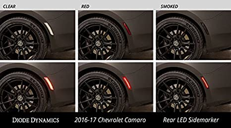 4pc Front//Back Smoked LED Side Marker Light Complete OE Sidemarker Replacement Optix Chevy Camaro 2016