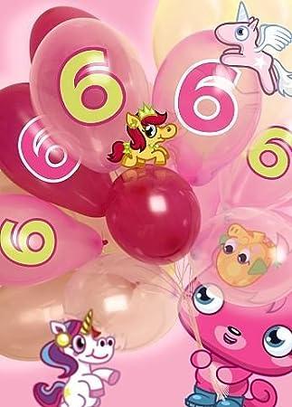 Moshi Monsters 6 Geburtstag Holografische Grußkarte 3d Pink