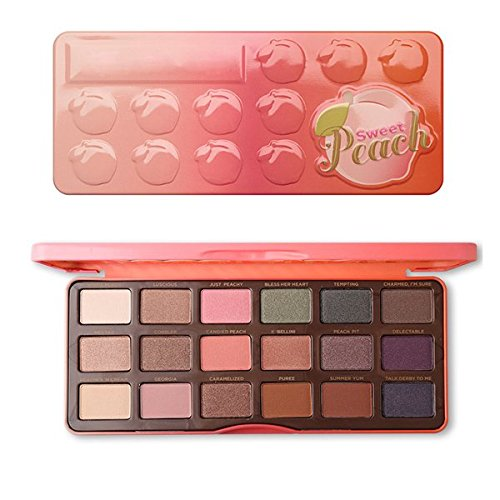 18 Colors Chocolate Sweet Peach Eyeshadow Palette Bon Bons Peach Paleta Pigmented Peachy Eyeshadow Pallete Maquillage Makeup Sweet ()